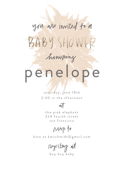 baby shower invitations - Splash by Annie Montgomery