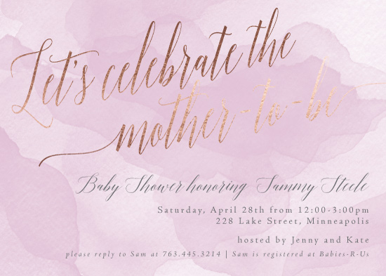 baby shower invitations - Celebrate Watercolor by Gretchen Berry
