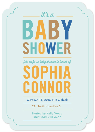 baby shower invitations - Hip To Be Baby - Boy by Becky Hoppmann