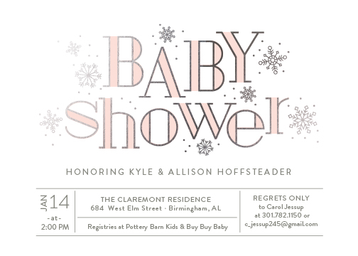 baby shower invitations - Frosted by Sarah Guse Brown