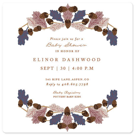 baby shower invitations - Harvest Frame by Nazia Hyder