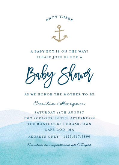 baby shower invitations - Little Sailor by Bethan