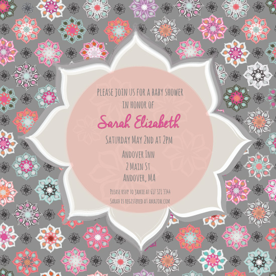 baby shower invitations - Mini Floral Baby Shower by Jolene Heckman