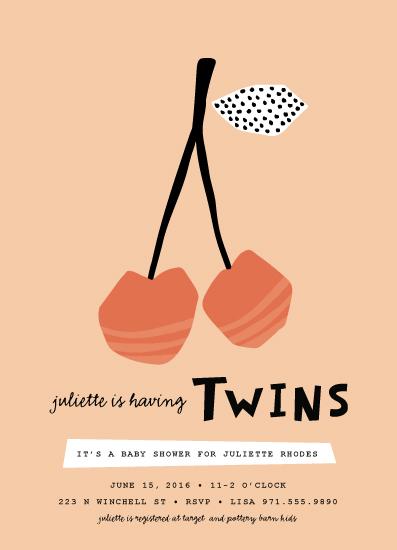 baby shower invitations - Modern Cherries by Pistols