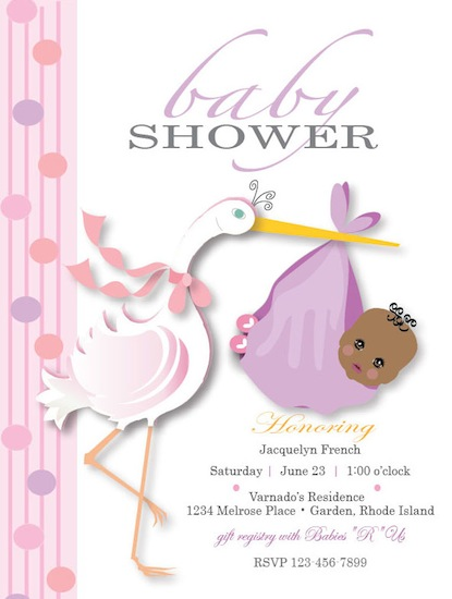 baby shower invitations - Special Delivery by Darlene Bevill