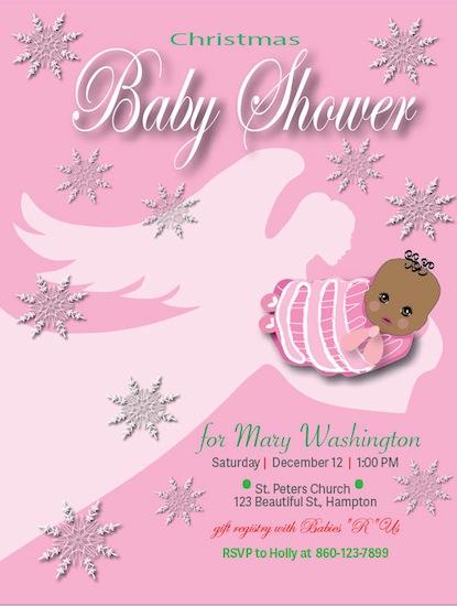 baby shower invitations - Angel Baby by Darlene Bevill