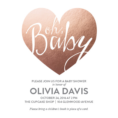 baby shower invitations - Big Love by Lori Lay