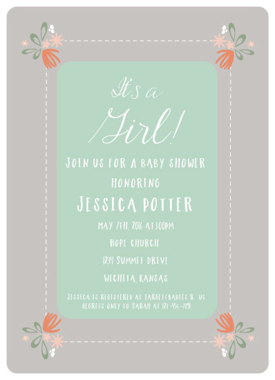 baby shower invitations - Sweet Spring by Hollie Shepard