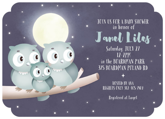 baby shower invitations - Owly by Kristeen Tibbits