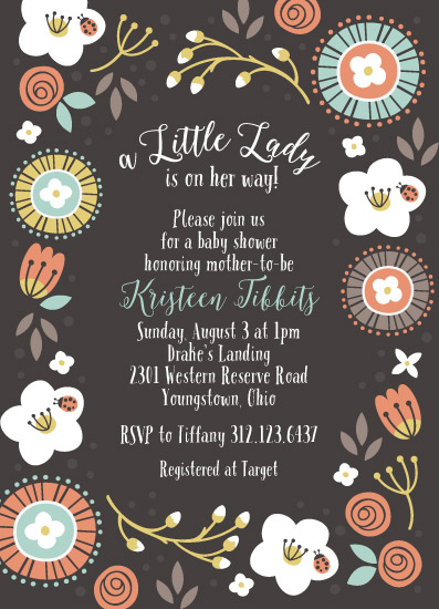 baby shower invitations - A Little Lady by Kristeen Tibbits