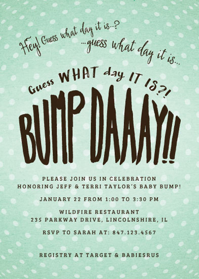 baby shower invitations - Bump Day by Andra Kosik
