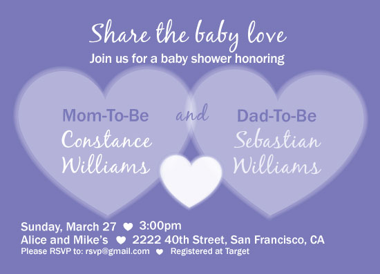 baby shower invitations - Share the baby love by MJ Roebuck