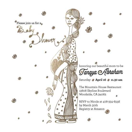 baby shower invitations - Magnificent Mommy by Pooja Thacker