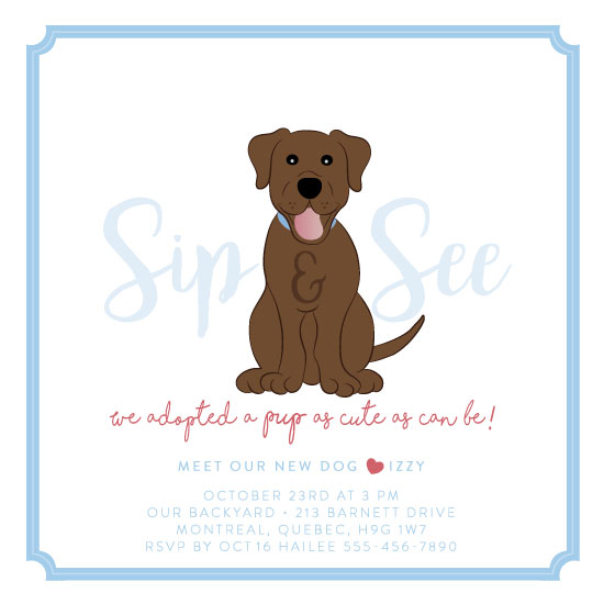 baby shower invitations - Cute As Can Be Pup by Agi Szabo