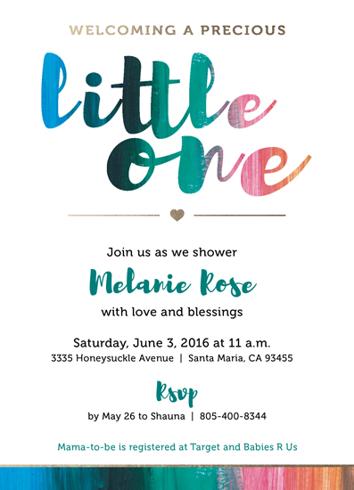 baby shower invitations - Welcoming Little One Invitation by Shauna Hernandez
