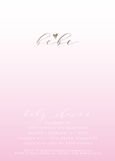 baby shower invitations - Bebe Girl by Gretchen Berry