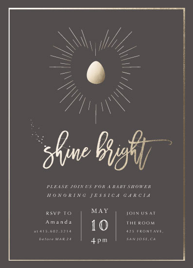 baby shower invitations - Baby Shine Bright by Grace Chen