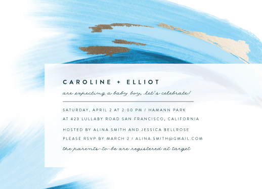 baby shower invitations - Painted Wave of Joy by Maria Hilas Louie