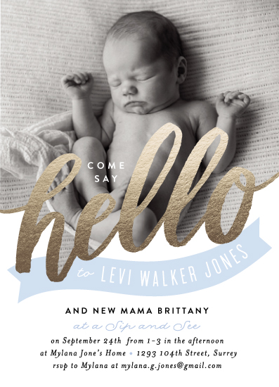 baby shower invitations - Hello Banner by Alethea and Ruth