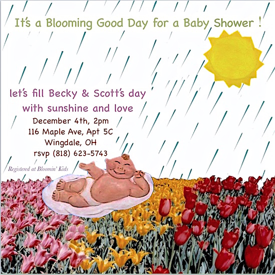 baby shower invitations - Blooming' Baby Shower by Missy Kaolin