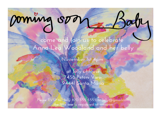 baby shower invitations - Baby Butterfly by Juli Marti