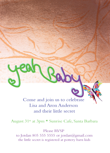 baby shower invitations - yeah gold baby by Juli Marti