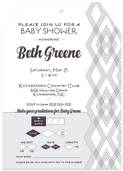 baby shower invitations - Diamond Predictions by Jenna Pennell