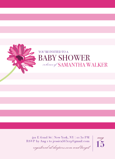 baby shower invitations - Gerber Daisy Baby by Thoroughly Curly Designs