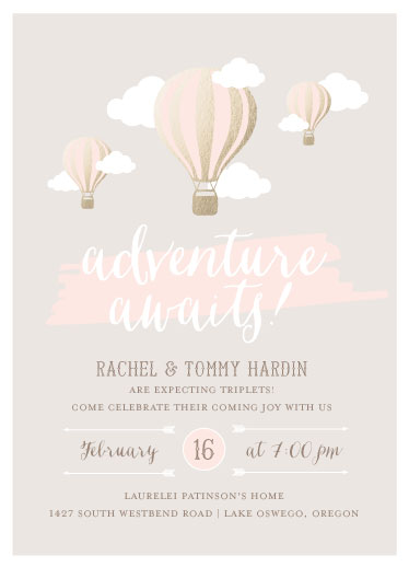 baby shower invitations - Adventure Awaits by Little Words Design
