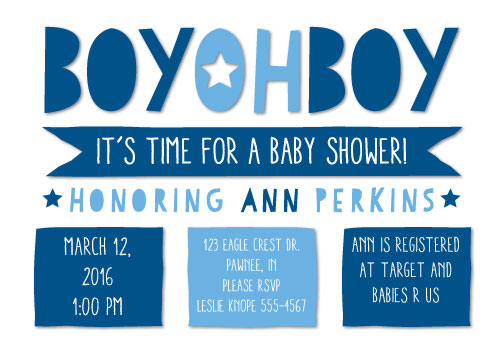 baby shower invitations - Little Boy Blue by Jillian OBrien
