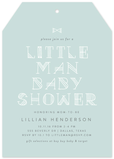 baby shower invitations - New Little Man by Lauren Chism