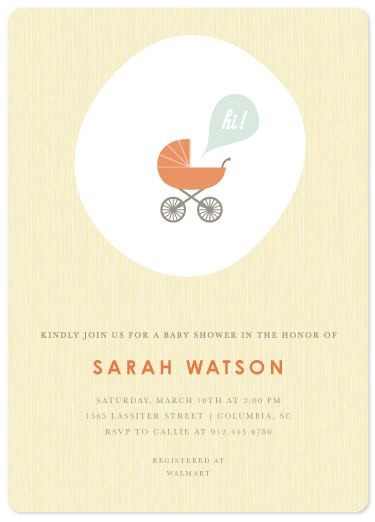 baby shower invitations - Saying Hi - Butter by Becky Hoppmann