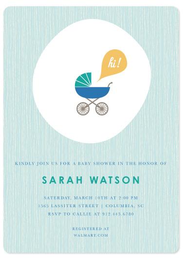 baby shower invitations - Saying Hi - Pool by Becky Hoppmann