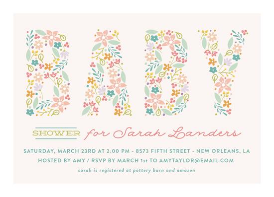 baby shower invitations - Spring Garden by Chasity Smith