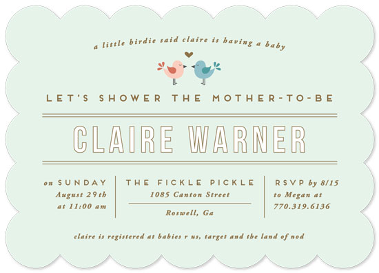baby shower invitations - A Little Birdie Said by Jennifer Postorino