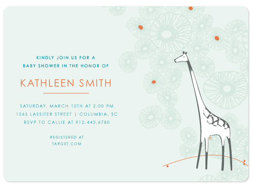 baby shower invitations - Spotted Giraffe - Pool by Becky Hoppmann