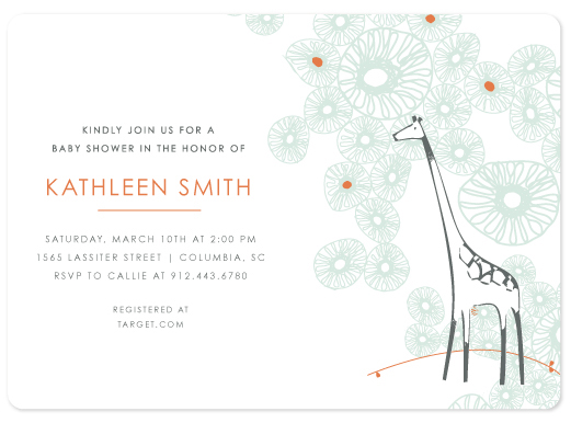 baby shower invitations - Spotted Giraffe - White by Becky Hoppmann
