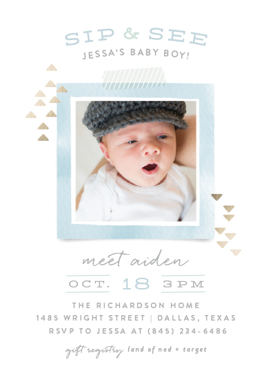 baby shower invitations - Modern Sip & See by Hooray Creative