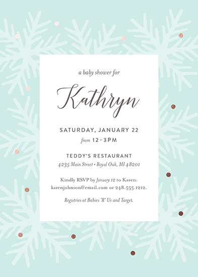 baby shower invitations - Snowfall by Genna Cowsert