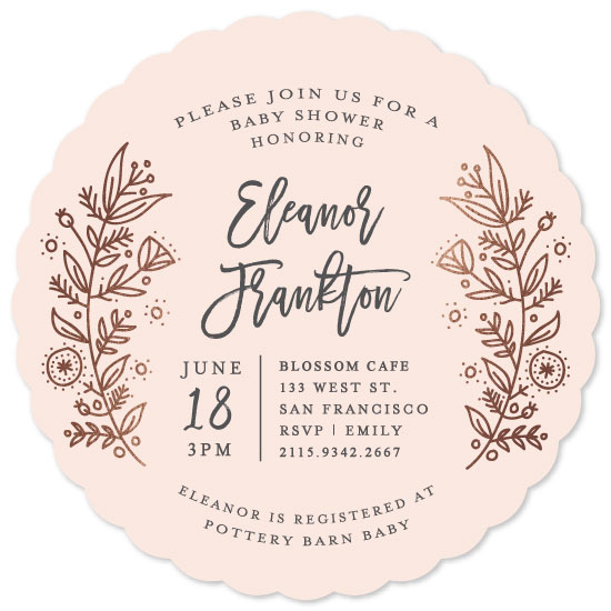 baby shower invitations - Petit Fleur by Bethan