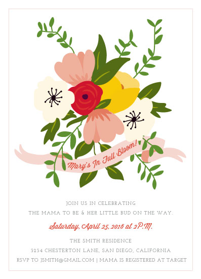 baby shower invitations - In Full Bloom by Barney Design