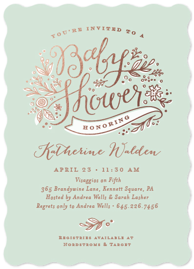 baby shower invitations - Spring bouquet by Jennifer Wick