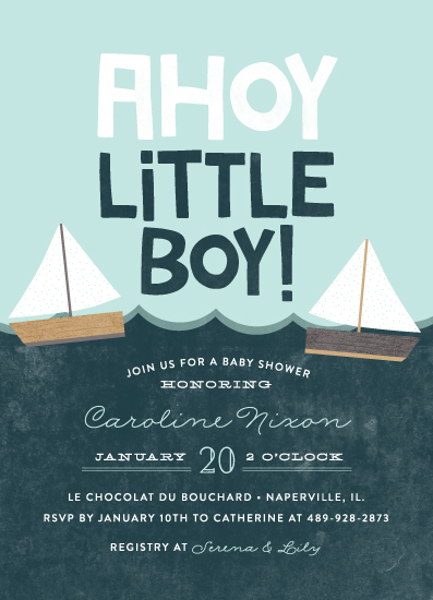 baby shower invitations - Ahoy Little Boy by Ashley Hegarty