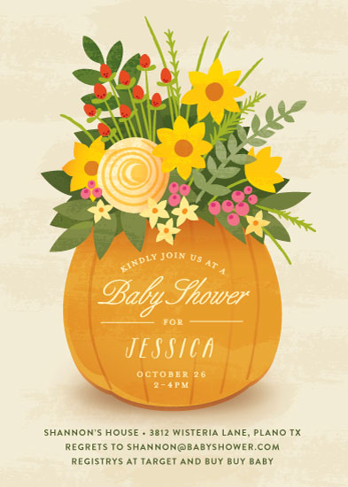 baby shower invitations - Autumn Bouquet by Jessica Ogden