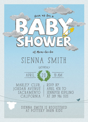 baby shower invitations - One Fine Day by Gabriel