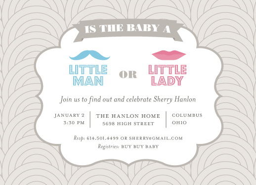 baby shower invitations - Little Man or Little Lady by jellyjollyho