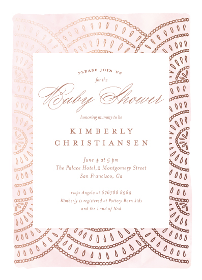 baby shower invitations - Boho Gild by Petra Kern
