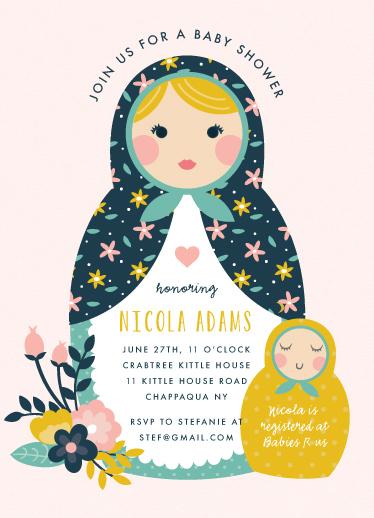 baby shower invitations - Nesting by Annie Holmquist