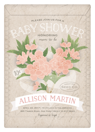 baby shower invitations - Love Blooms by Lorent and Leif
