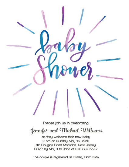 baby shower invitations - Baby blue by Alyson Fraser